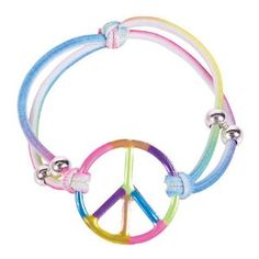 Black Friday 2014 Girls Elastic Rainbow Peace Bracelets Girls Party Favors: Set of 12 from Rhode Island Novelty Cyber Monday. Black Friday specials on the season most-wanted Christmas gifts. Bowling Party Favors, Gypsy, Roller Skating Party, Party Favors For Adults, Tie Dye Party, Jewelry Trends, Peace And Love, Jewelry Design, Rainbow