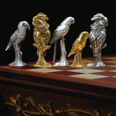 Unique Chess Pieces | You can also opt for hand painted enamel chess pieces instead of the ...