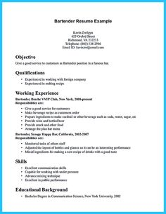 Most people think working as a bartender is awesome. If you think so, you should make an impressive bartender resume sample that will make the recruit... best bartender resume sample and bartender sample resume template
