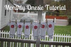 Detailed DIY Monthly Onesies Tutorial