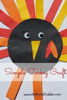 Thanksgiving Craft for Toddlers - Turkey - My Bored Toddler