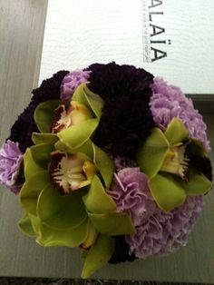 Carnations and orchids..Ovando Flowers   NYC