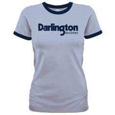 Darlington Raceway Fanatics Branded Women's Ringer T-Shirt - Heather Blue