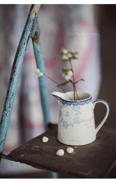 Mažas ąsotėlis Fay white - SimpleHomes