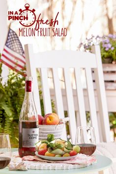 Party plans? Keep it simple and sweet with our Melon Fruit Salad recipe paired with Sutter Home Sweet Red.