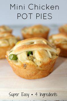 mini pot pies using crescent rolls más see more mini chicken pot pie ...