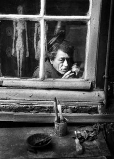 Alberto Giacometti © Christer Strömholm 1960  #albertogiacometti #Strömholm