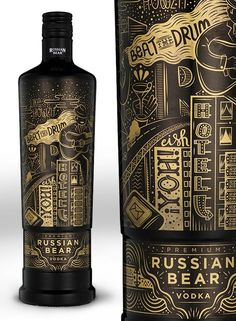 Russian Bear 'Urban Expressions' by Hylton Warburton via Behance Luxury Packaging, Beverage Packaging, Bottle Packaging, Brand Packaging, Design Packaging, Coffee Packaging, Food Packaging, Wine Bottle Labels, Liquor Bottles