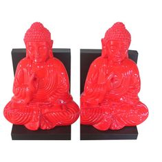@Overstock - Red Buddha Bookend (Set of 2) - These little Buddha bookends in polyresin will help you to organize your books shelves. These inspirational bookends are a fun and striking addition to your home or office decor.  http://www.overstock.com/Home-Garden/Red-Buddha-Bookend-Set-of-2/8760743/product.html?CID=214117 $67.49