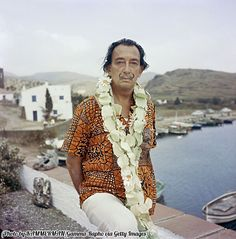 Salvador Dali at his home in Figueres, Spain.