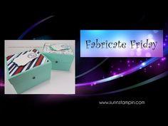 Fabricate Friday Card Box - YouTube