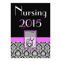 caricature nursing school graduation invitation   nursing, invitation samples