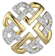 I used to use this knot a lot back in the day. This is too gold and diamond-y for me, but it's pretty.