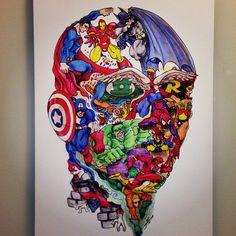 How many superheroes do you see?