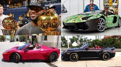 Lebron James cars collection 2016 .  LeBron James became an immediate star after skipping college to join the NBA's Cleveland Cavaliers. He led the Miami Heat to NBA titles in 2012 and 2013 and won a third championship with Cleveland in 2016.  Born in Ohio in 1984 LeBron James garnered national attention as the top high school basketball player in the country. With his unique combination of size athleticism and court vision he became one of the premier players in the NBA for the Cleveland…