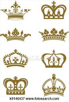 ilustraciones de coronas | Colección de ilustraciones - Coronas. Fotosearch - Buscar Clip Art ...
