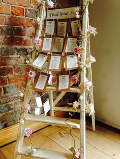 Rustic Ladder Table Plan at Wasing Park