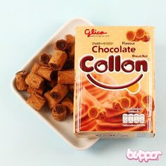 Each biscuit consists of lovely crispy outer tube, with a soft and fluffy chocolate centre.
