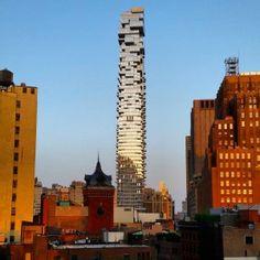 "Herzog+&+de+Meuron's+56+Leonard+""Jenga+tower""+nears+completion+in+New+York"