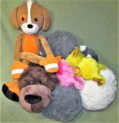 Lot of 8 TV Plush 4 Hide Away Flip A Zoo Stretch kKns 2 Fur Berries Stuffed Toys #AsSeenOnTV