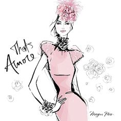 A close up of my THAT'S AMORE print. She wore pale pink couture with flowers in her hair...This print comes in Limited Edition - available from MEGANHESS.COM