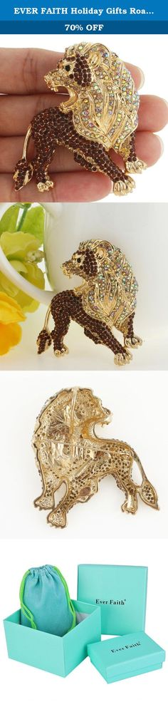 EVER FAITH Holiday Gifts Roaring King Lion Brown Austrian Crystal Brooch Gold-Tone. Colored stones are the preferred medium to breathe life into these animal creations, and with the variety of stones that exist options are aplenty. Ever Faith As a company that concentrates on fashion jewelry, we already have about 10 years experience on fashion jewelry trend. We work magic on jewelry, keep on new designs and to a leader of beauty and style is our goal. We have over 5000 products and are…