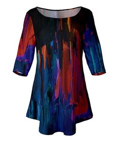18515a2bb3186 This Blue  amp  Red Abstract Tunic - Plus Too is perfect!  zulilyfinds  Ladies. Ladies FashionTunicRobeFemale ...