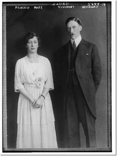 An engagement portrait of HRH Princess Mary and Lord Lascelles. After their marriage they lived at Goldsborough Hall throughout the 1920s.