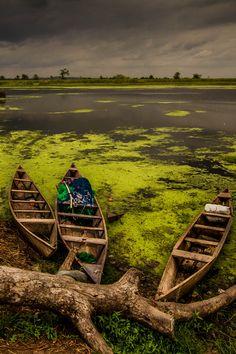 Kpong Canoes, Ghana, Africa