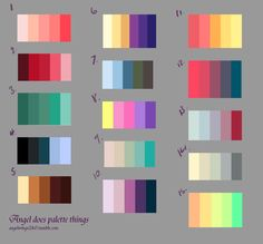 (Attempt to) draw it!try to not send anything from color palate, colour pal Color Schemes Colour Palettes, Colour Pallette, Color Combos, Decoration Palette, Color Palette Challenge, Palette Art, Color Plan, Drawing Challenge, Color Swatches