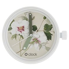 O clock watch dial - Botanical Peonia