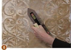 Decorative Paint Finish Tutorial - How to Stencil Custom Designs with Plaster - Get the Look of Inlaid Stone with Pietre Dure & Modello Stencils