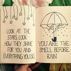 Doodle in Notebook Cute Hearts | cute, doodle, notebook, rain, stars - image #2708458 by KSENIA_L on ...