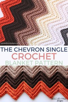 The Single Crochet Chevron Blanket Pattern - Easy to work up and looks like it's harder than it is! This single crochet chevron blanket tutorial is easy for a crocheter who wants to learn a chevron pattern! Make this single crochet ripple stitch pattern! Chevrons Au Crochet, Chevron Crochet Blanket Pattern, Crochet Ripple Afghan, Easy Crochet Blanket, Crochet For Beginners Blanket, Chevron Patterns, Granny Square Crochet Pattern, Afghan Crochet Patterns, Chevron Afghan