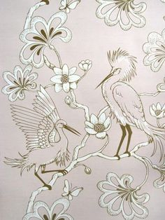 Florence Broadhurst Egrets Wallpaper