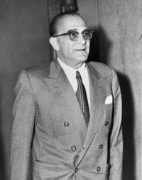 "Vito Genovese (November 27, 1897 – February 14, 1969) was an Italian-born American mobster and crime boss who rose to power in America during the Castellammarese War to later become leader of the Genovese crime family. Genovese served as mentor to the future boss of the Genovese crime family Vincent ""Chin"" Gigante. He was known as Boss of all Bosses."