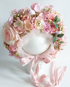 🌸Flower bonnet 🌸 Coming soon 🌸 #sitterbonnet #photoprops #sitter #sittersession #vintageinspired #newbornshoot #flowerbonnet #flowerbonnets… Newborn Tieback, Kids Headbands, Diy Flowers, Baby Photos, All Design, Photo Props, Floral Wreath, Easter, Wreaths