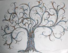 Winter tree  Doodled by: Maureen Ball Bernard♥ (prismacolor Markers)