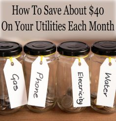 How to save $40 per month on your utilities. We've been doing this for 2 years, and it makes a huge difference!