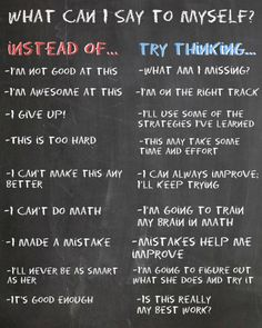 I love this! Positive twists on negative thoughts!