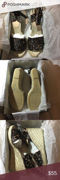 "J Crew collection Leopard espadrilles brand new 3 1/2"" J. Crew Shoes"