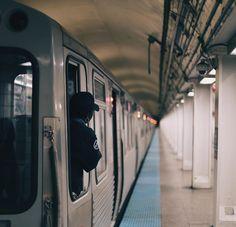 """Chicago cta driver #cta #driver #woman #work #black #subway #underground #architecture #tunnel #tube #concrete #stopover #security"""