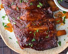 Slow Cooker Ribs Pork Rib Recipes, Honey Recipes, Chicken Wing Recipes, Meat Recipes, Slow Cooker Recipes, Crockpot Recipes, Cooking Recipes, Traeger Recipes, Barbecue Recipes