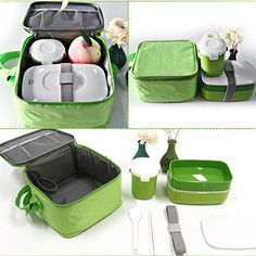 fb33562219a8 High Quality Japanese Bento Lunch W  Water Soup Mug Box Insulated Lunch  Tote Bag Food Container Lunchbox Plastic Microwave Ok