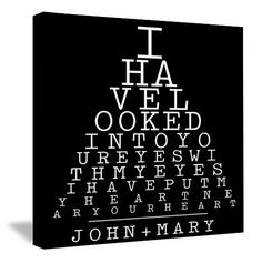 Eye Chart with your name
