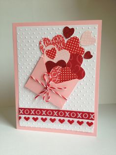 Kid's Crafts « Diy and Craft Valentines Day Cards Handmade, Valentine Crafts, Greeting Cards Handmade, Cute Cards, Diy Cards, Paper Cards, Diy Paper, Creative Cards, Anniversary Cards