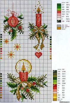 cuadrito de navidad bordado en punto de cruz