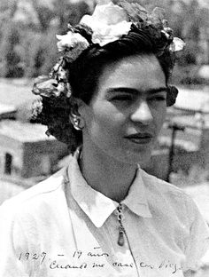 Frida (19 years old) Sporting the original floral headband.
