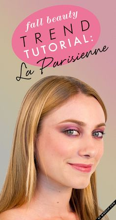 Inspired by the impossibly chic French women of past and present, this trend breathes new life into the smoky eye, and reminds us of the romance of effortlessly dressed strands and skin. For a perfect fall look, we highly recommend this La Parisienne trend!