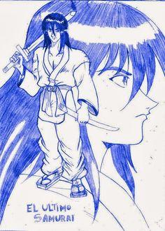 EL ULTIMO SAMURAI: Dibujo de Anónimo con Espada [Grafito] por PASCUAL | PASCUAL: Mis Dibujos de Anime Manga